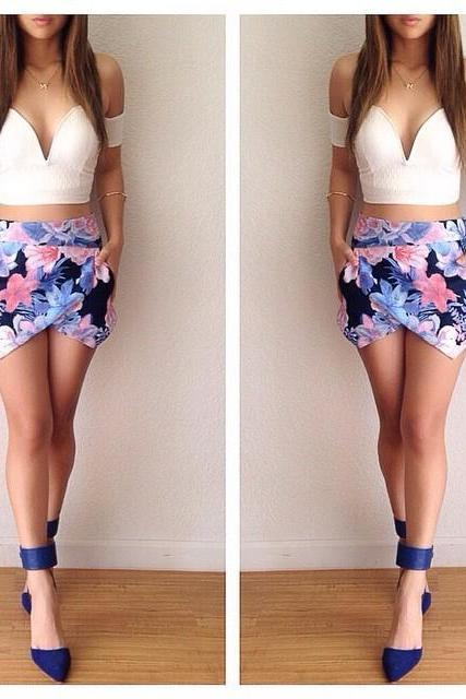 Printed Two-Piece Dress