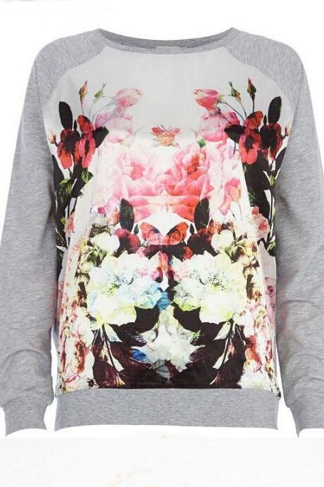 The new round neck long-sleeved sweater printing AX42015ax