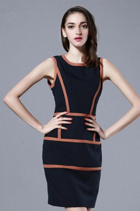 2015 The European And American High-End Boutique Color Matching Of Cultivate One's Morality Dress