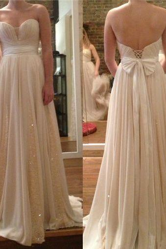 long prom dress, sweet heart prom dress, champagne prom dress, modest prom dress, pretty prom dress, BD71