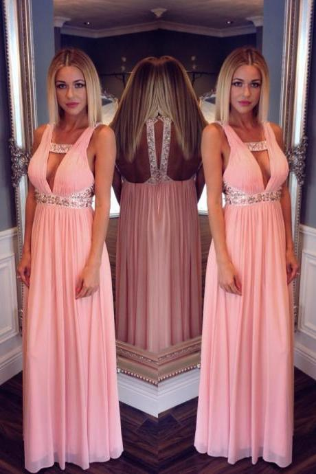 pink prom dress, long prom dress, sexy prom dress, 2015 prom dress, off shoulder prom dress, cheap prom dress, BD72