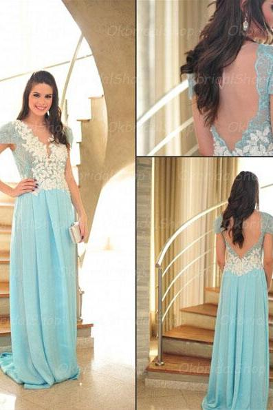 lace prom dresses, short sleeve prom dress, unique prom dresses, sexy prom dresses, 2015 prom dresses, popular prom dresses, dresses for prom, CM425