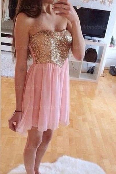 sequin prom dresses, pink prom dress, sexy prom dresses, custom prom dresses, 2015 prom dresses, sexy prom dresses, dresses for prom, CM433