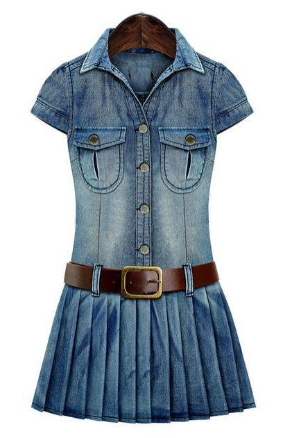 Denim Dress for Teen Girls Denim Dress for Women, Cowgirl Outfit Texas Girls Outfit