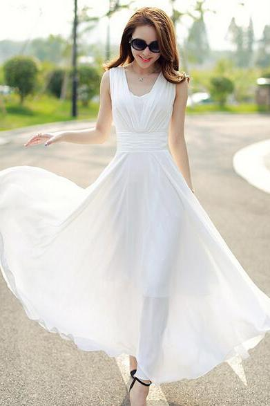 Bohemia Style Of Cultivate One's Morality Round Collar Chiffon Dress
