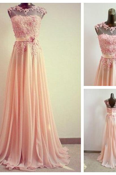 Lace prom dress, peach prom dress, long prom dress, elegant prom dress, prom dress, pretty prom dress, dress for prom, BD92