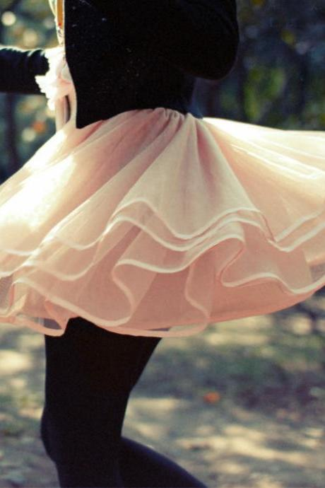 Lovely Tulle Short Skirt Light Pink Tulle Skirts Champagne Skirts Women Skirts Skirts