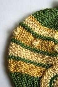 Warm Soft Hat, Natural Plant Dye, High-End Silk/Wool, Size 6 Month, OOAK
