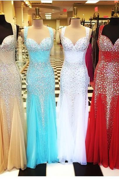 sparkly prom dress, mermaid prom dress, sweet heart prom dress, gorgeous prom dress, beading prom dress, affordable prom dress, BD140