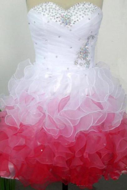 Beading Short/Mini Graduation Dresses, Sweetheart Homecoming Dresses, Real Made Graduation Dresses, Evening Dresses On Sale