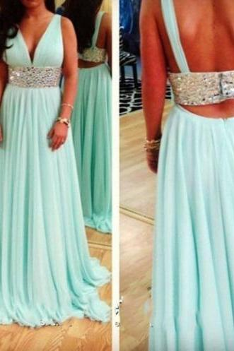 Blue prom dress, sexy prom dress, prom dress, v-neck popular prom dress, off shoulder prom dress, evening dress, BD155