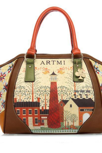 Fashion Luxury Beige Bags Brown Purse Large Brown Bags Printed Bags