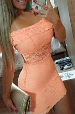 Sexy Lace Package Hip Dress