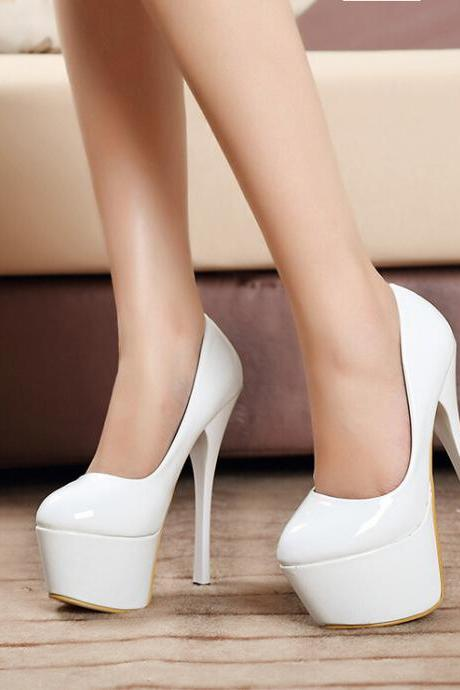 2015 in Europe and the 3 color paint wedding shoe fashion sexy high heels