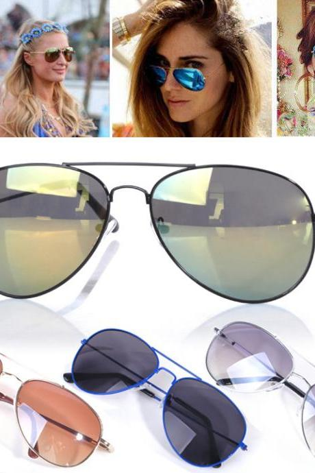 Unisex Mirror Aviator Sunglasses