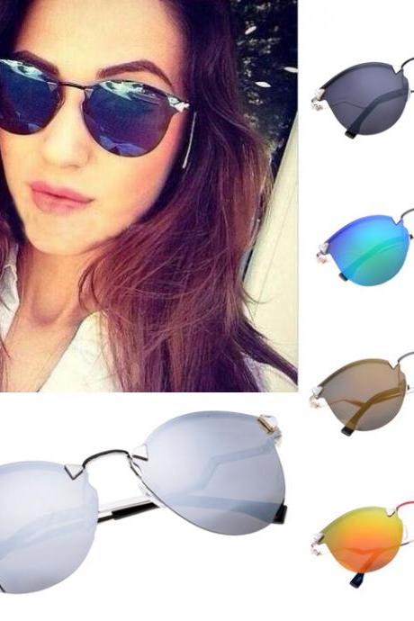 Cool Retro Unisex Frameless Reflector Sunglasses