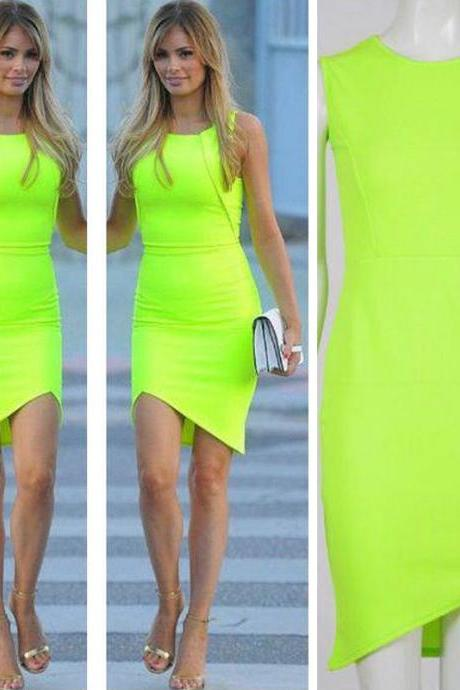 New Fashion Womens Summer Casual Sleeveless Dresses Cocktail Short Mini Dress
