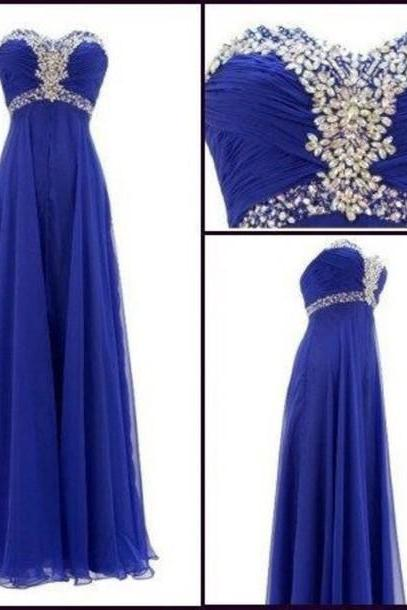 Beading Prom Dresses, Sweetheart Floor-Length Evening Dresses, Real Made Evening Dresses,Chiffon Sequins Evening Dresses, Charming Evening Dresses, Evening Dresses On Sale
