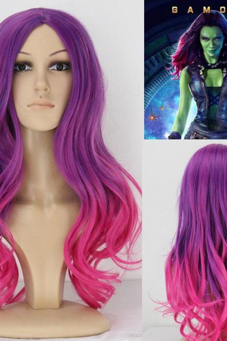 Handmade Newly Mixed Guardians of the Galaxy Gamora Cosplay Wig Hair Wig