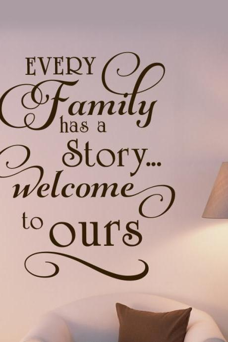 Wall Decal Quotes - Every Family ... art decor for home, vinyl decals for wall, quote stickers, Inspired Decals