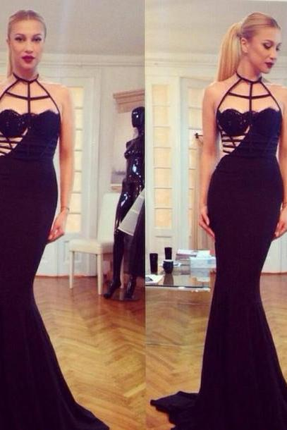 long prom dress, occasion dress, black prom dress, unique prom dress, evening dress, mermaid prom dress, sexy prom dress, BD212