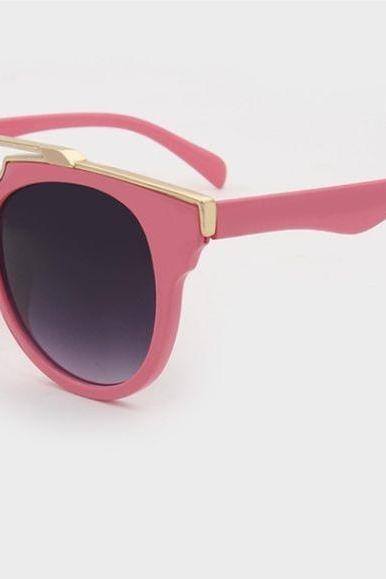 Vintage party luxury design pink girl sunglasses