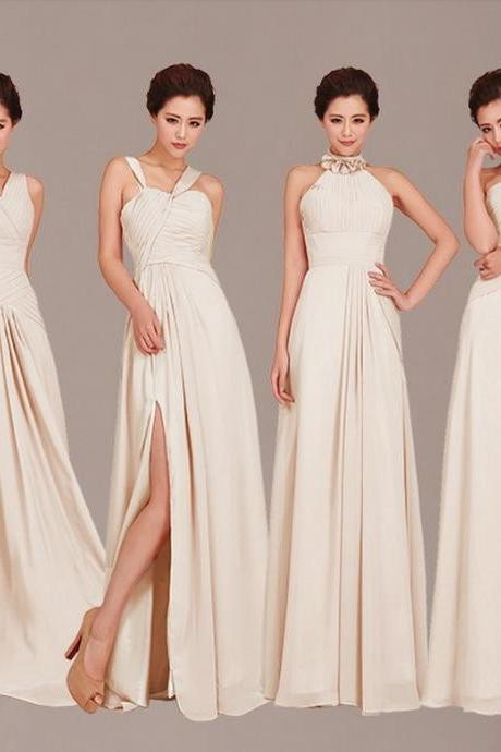 Cheap Bridesmaid Dresses, Mismatched Bridesmaid Dresses, champagne Bridesmaid Dresses, Inexpensive Bridesmaid Dresses, CM448