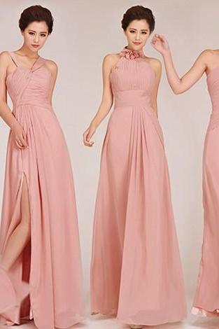 Pink Bridesmaid Dresses, Mismatched Bridesmaid Dresses, chifon Bridesmaid Dresses, Inexpensive Bridesmaid Dresses, CM449