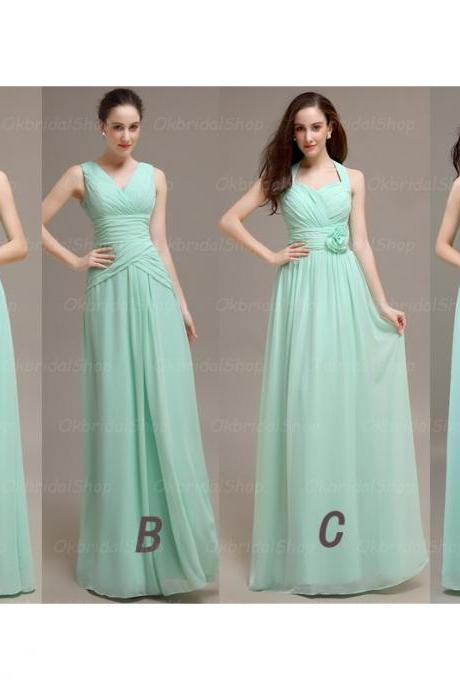 Mint Bridesmaid Dresses, Mismatched Bridesmaid Dresses, chiffon Bridesmaid Dresses, Inexpensive Bridesmaid Dresses, CM452