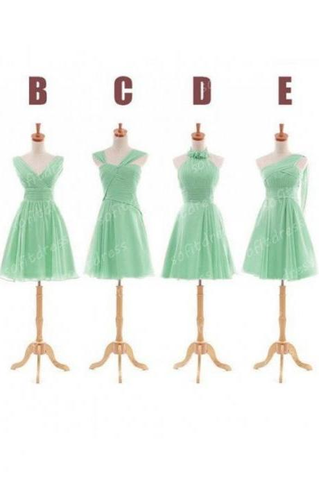mint Bridesmaid Dresses, Mismatched Bridesmaid Dresses, short Bridesmaid Dresses, Inexpensive Bridesmaid Dresses, CM454