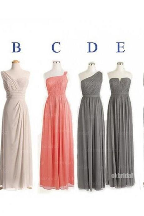 Chiffon Bridesmaid Dresses, Mismatched Bridesmaid Dresses, long Bridesmaid Dresses, cheap Bridesmaid Dresses, CM461