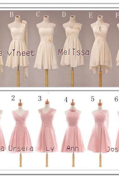 Short Bridesmaid Dresses, chiffon Bridesmaid Dresses, summer Bridesmaid Dresses, affordable Bridesmaid Dresses, CM464