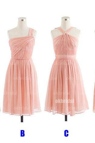 Blush pink Bridesmaid Dresses, affordable Bridesmaid Dresses, chiffon Bridesmaid Dresses, cheap Bridesmaid Dresses, CM465