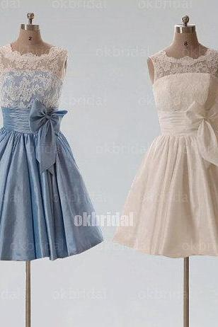 lace Bridesmaid Dresses, taffeta Bridesmaid Dresses, short Bridesmaid Dresses, cheap Bridesmaid Dresses, CM484