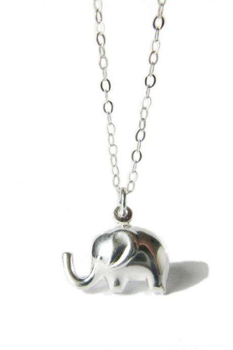 Elephant Necklace - Sterling Silver Elephant - Babar