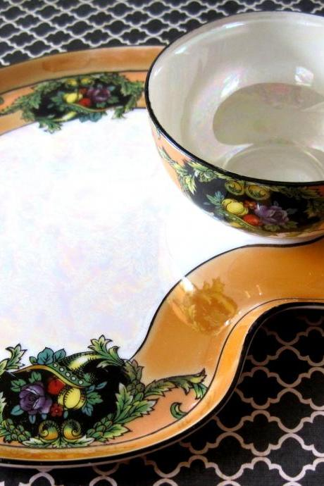 Noritake Lusterware Hand Painted Serving Tray