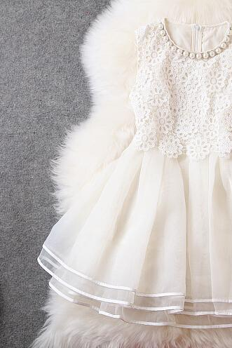 White organza embroidered bitter fleabane bitter fleabane skirt necklace dress