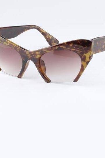 Cat Eye Cut End Retro Unisex Sunglasses