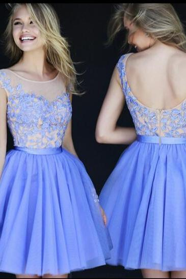 Blue bride wedding bridesmaid dress short dress