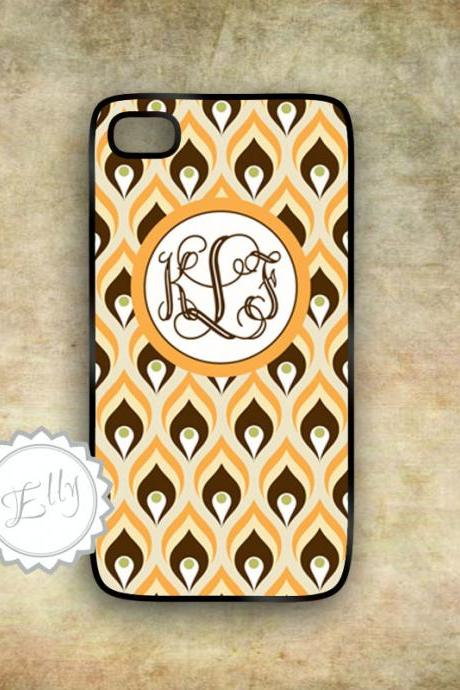 exotic iPhone retro floral patterned case personalized iPhone 4s cover vintage beige