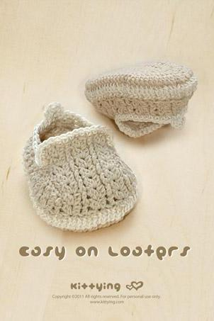 Khaki Easy On Loafers Crochet PATTERN, SYMBOL DIAGRAM (pdf) by kittying