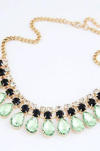 Exclusive jewelry pendants fashion light blue necklace