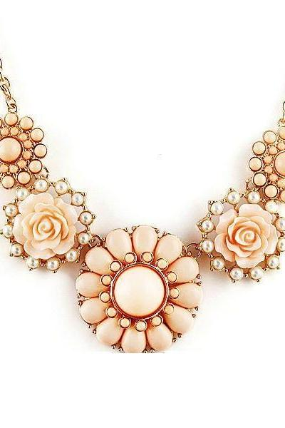 Flower pendants anniversary fashion woman necklace