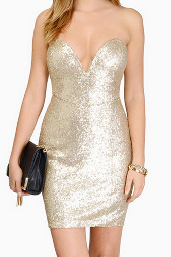 Sexy Sequined Dress Package Hip