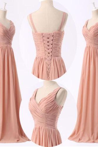 fashion full length chiffon prom Dresses evening dress Bridesmaid dresses custom made L184