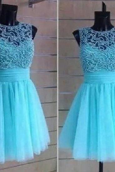 Beading Blue Graduation Dresses, Real Made Evening Dresses,Chiffon Sequins Evening Dresses, Charming Prom Dresses,Homecoming Dress