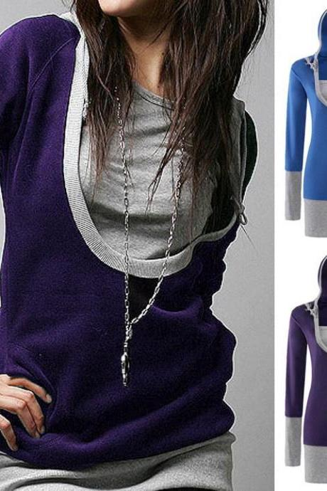 Hooded Long-Sleeved Sweater T-Shirt