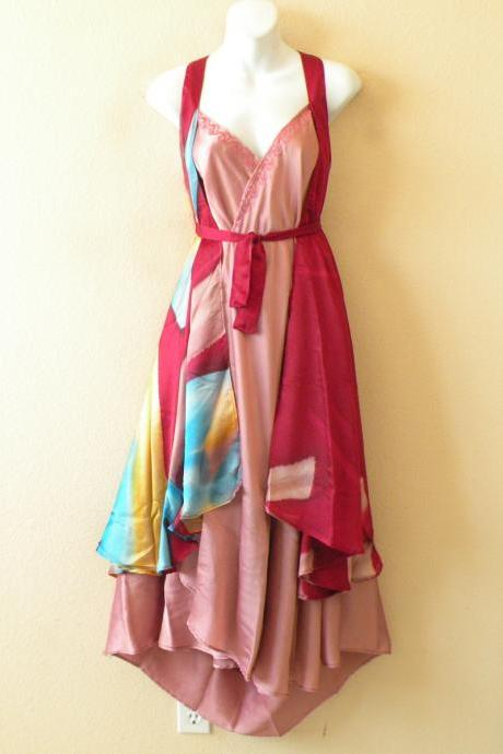 E503 Vintage Silk Magic 36' Length Long Wrap Skirt Halter Tube Maxi Dress + DVD