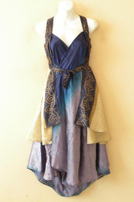 "M444 Vintage Silk Magic 30"" Length Long Wrap Skirt Halter Tube Maxi Dress + DVD"