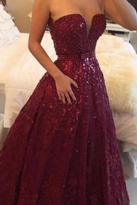 Pd585 High Quality Prom Dress,Charming Prom Dress,Noble Prom Dress,Beading Prom Dress,Strapless Prom Dress